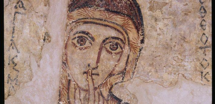 Malowidło ścienne – św. Anna