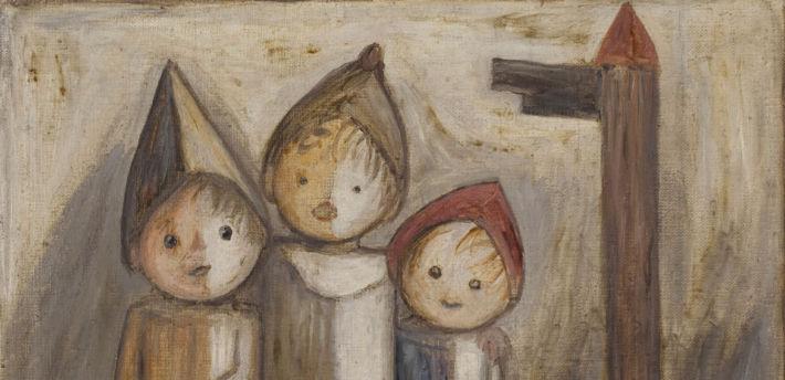 Dzieci pod drogowskazem