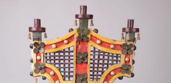 """""""Trijcia"""" – trójramienny świecznik cerkiewny"""
