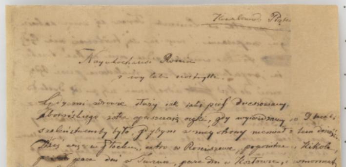 List do rodziny z Kowalewa, 6 lipca 1827