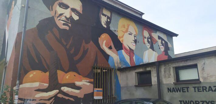 """Mural """" Z Pomarańczarką"""""""