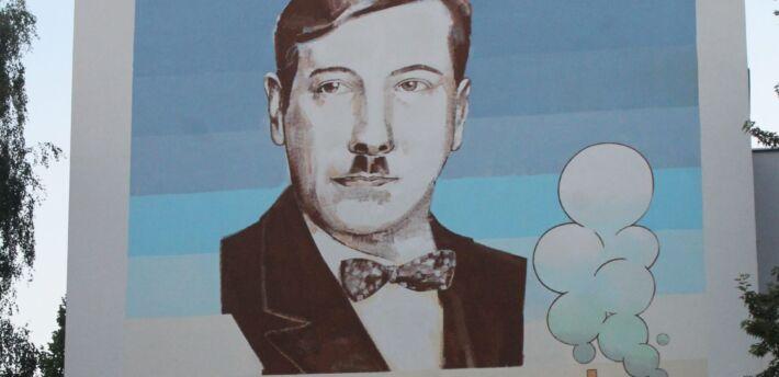 Mural inż.Eugeniusza Kwiatkowskiego