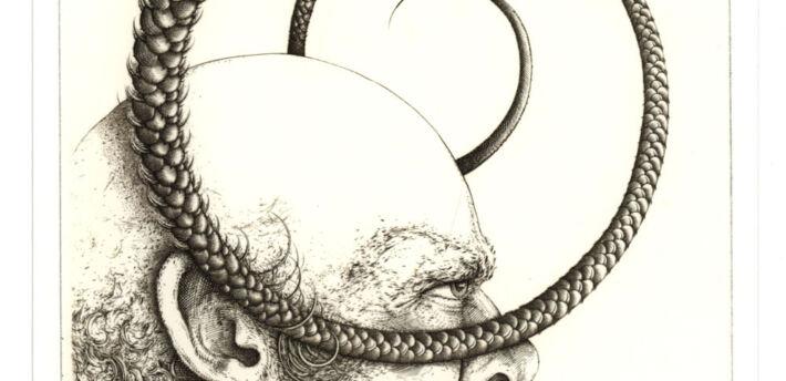 Łeb z wężem