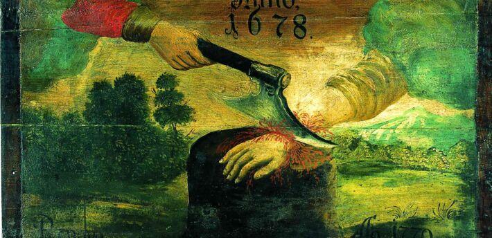 Obraz olejny malowany na desce